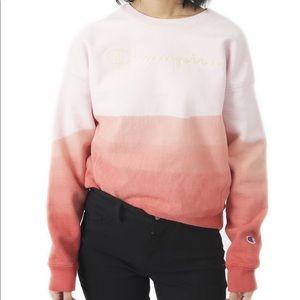 Dip Dye Ombré Champion crewneck sweatshirt